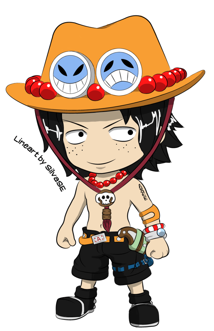Hats drawing ace. Chibi portgas d by