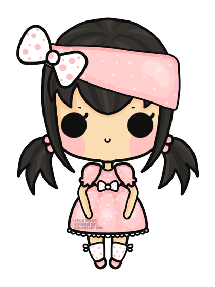 Hats drawing chibi. Mini girl by ribbonheart