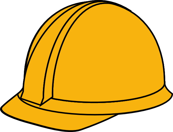Hats drawing construction. Hard hat art image