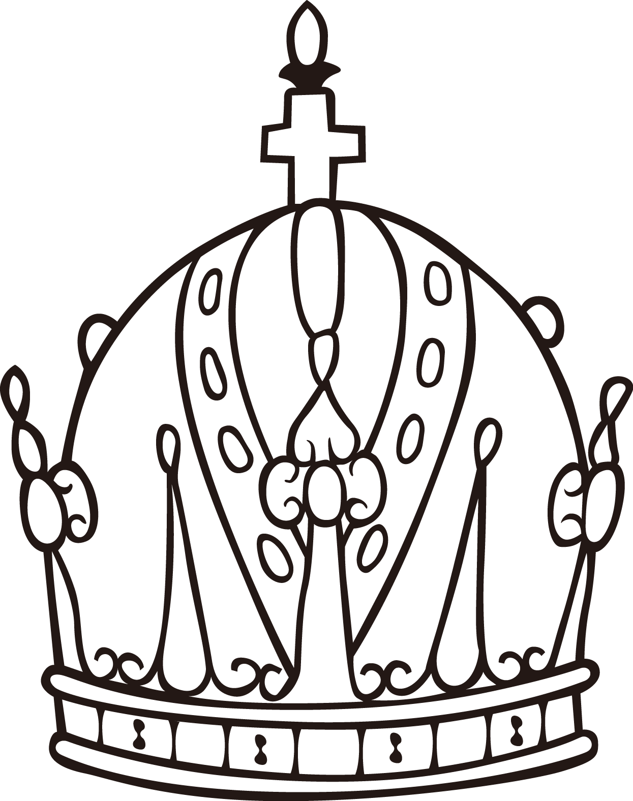 Hats drawing crown. Stock photography royalty free