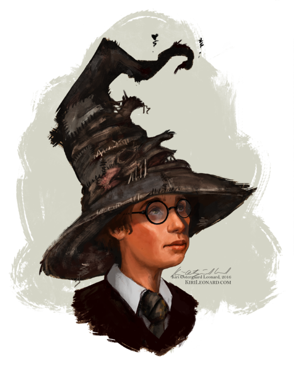 Hats drawing harry potter. And the sorting hat