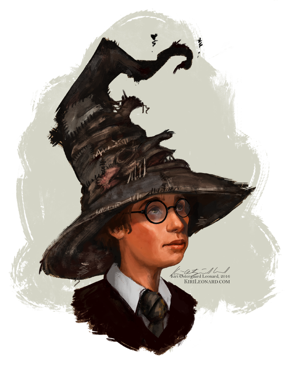 Costume drawing harry potter. And the sorting hat