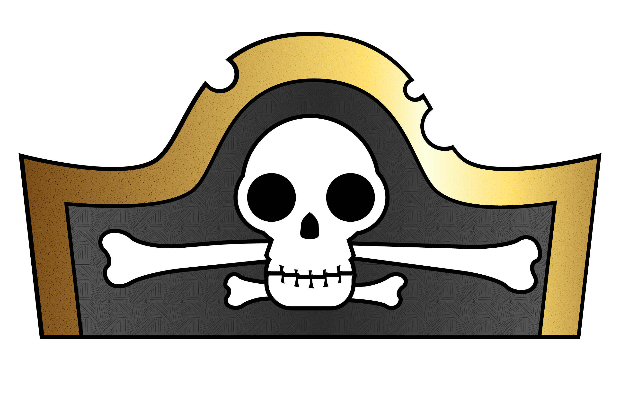 Hats drawing kid. Pirate hat template for