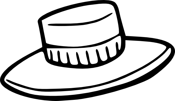 Hats drawing outline. Hat clip art at