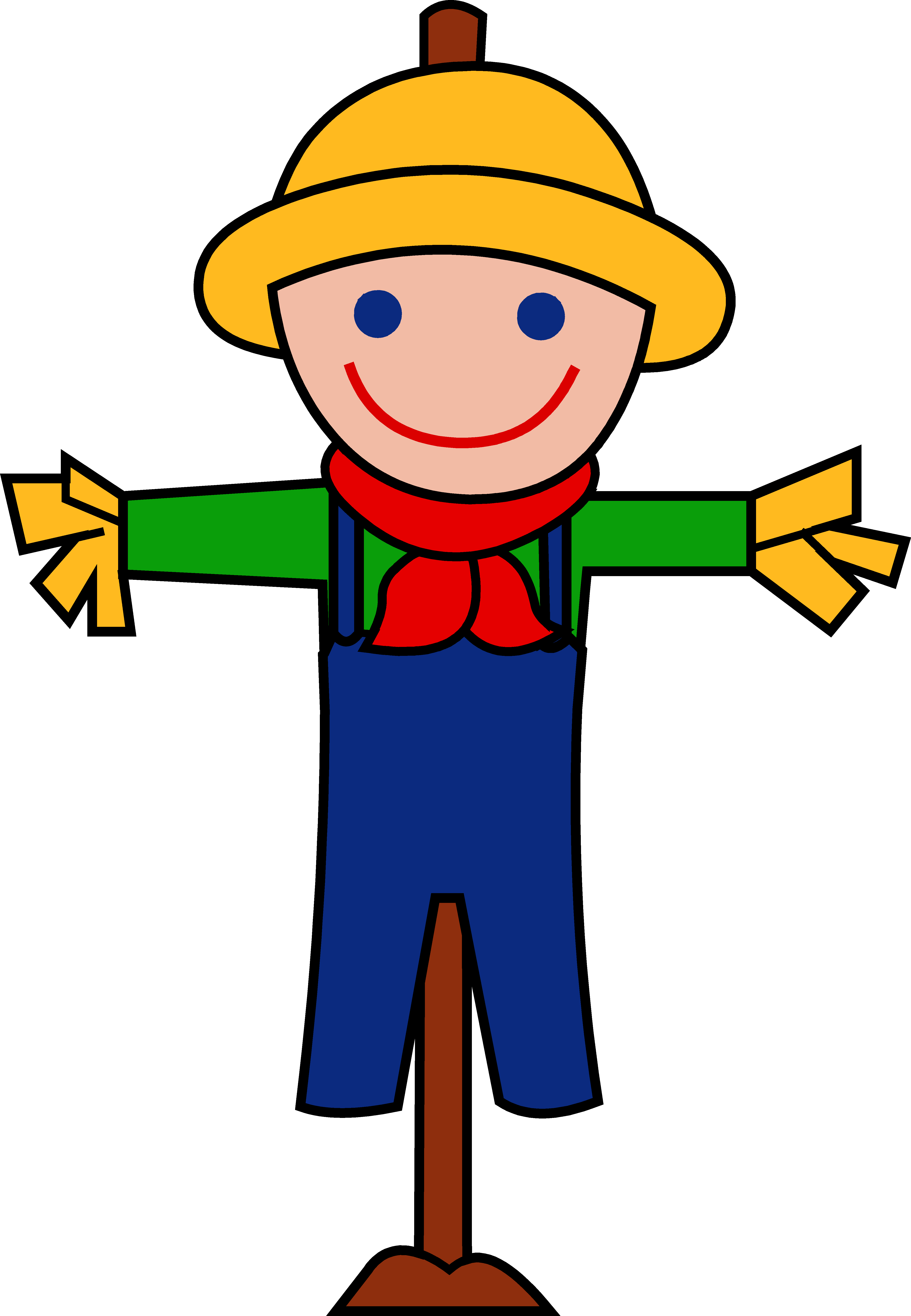 Cute happy autumn free. Hats drawing scarecrow clip download