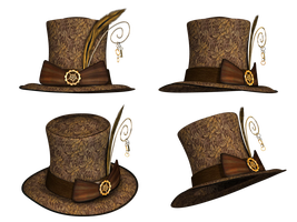 Hats drawing steampunk. Hat collection png stock
