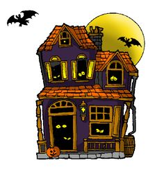 Haunted clipart. Pin by jackie campbell