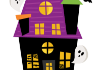 Haunted clipart. Free house a svg