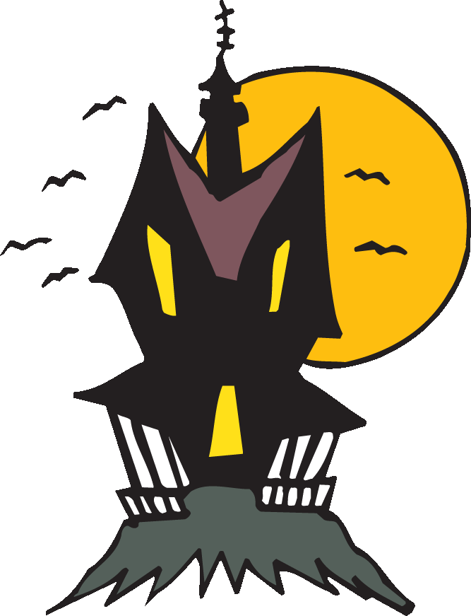 Haunted clipart. Halloween house at getdrawings