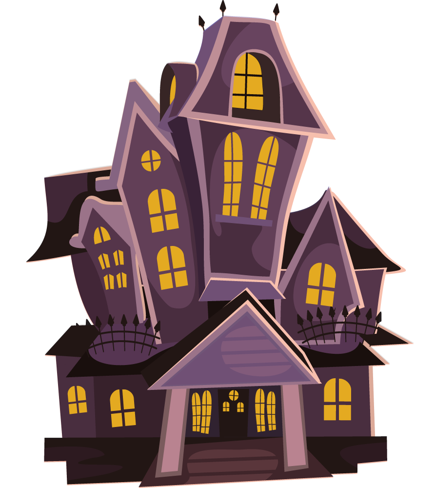Medieval clipart hut. Haunted house images typegoodies