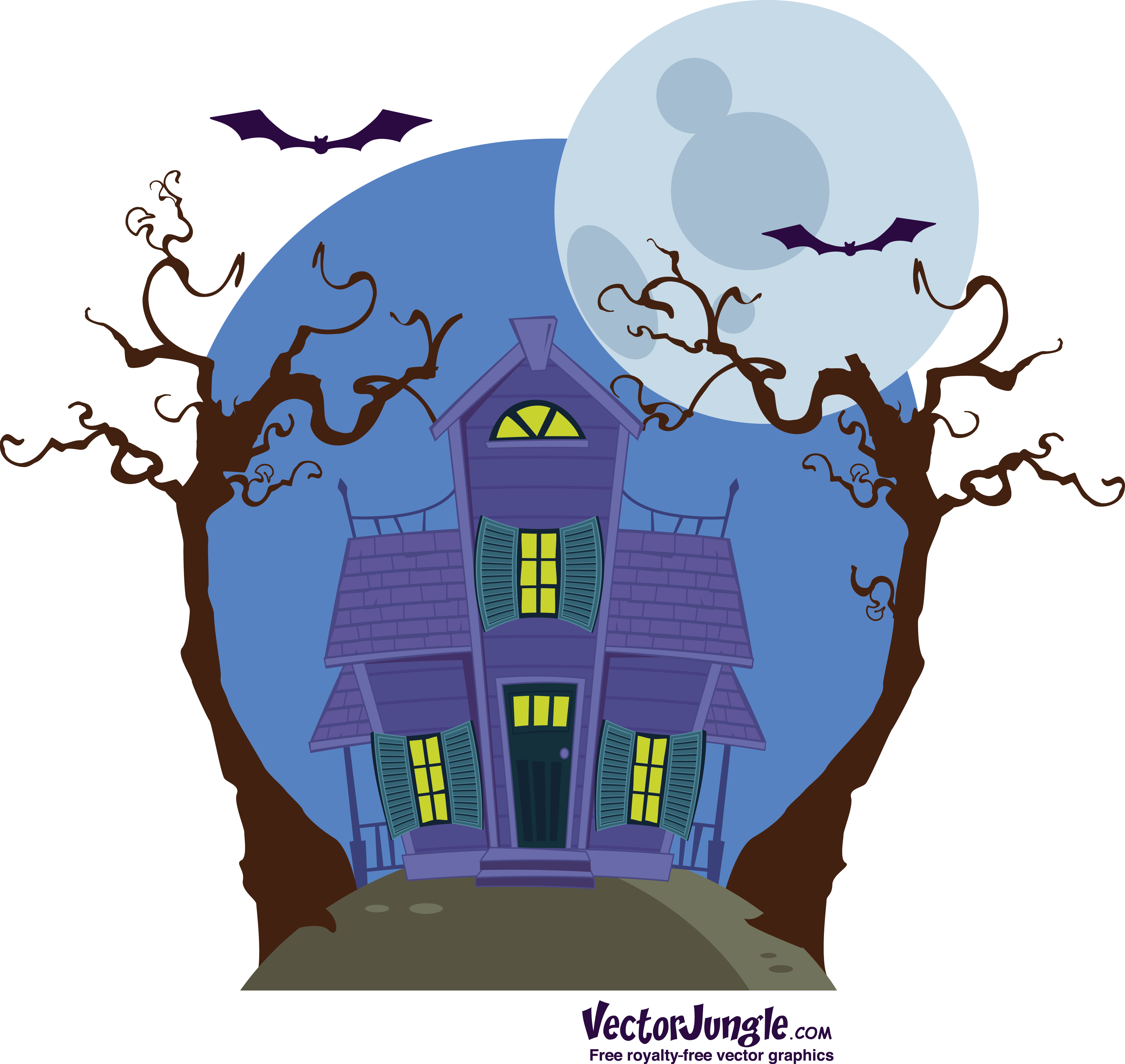 Haunted clipart moon. Free cartoon pictures of