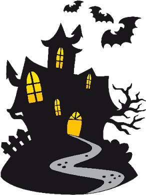 Haunted clipart background. Download coolest house halloween