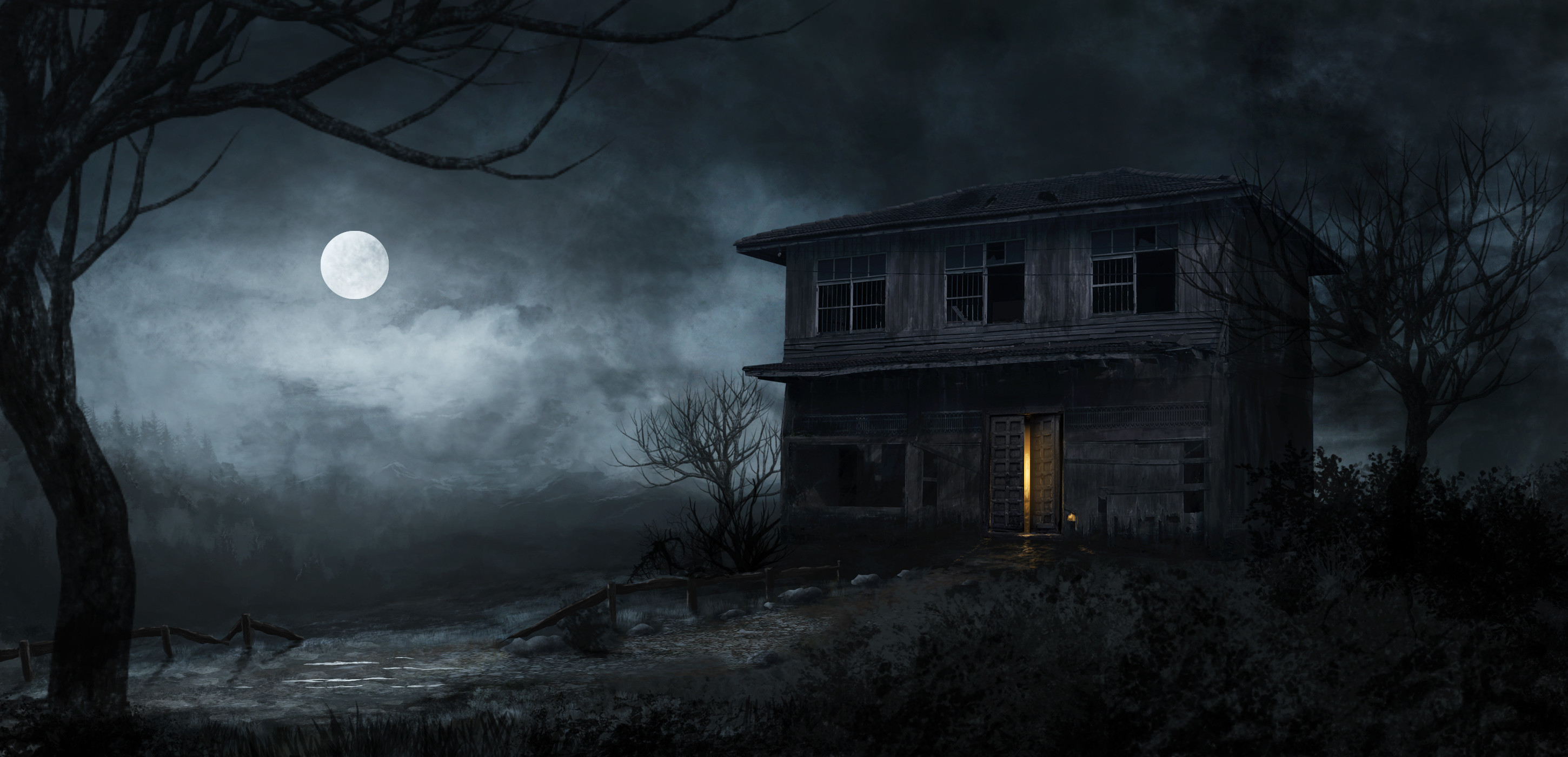 Haunted clipart background. House images x dark