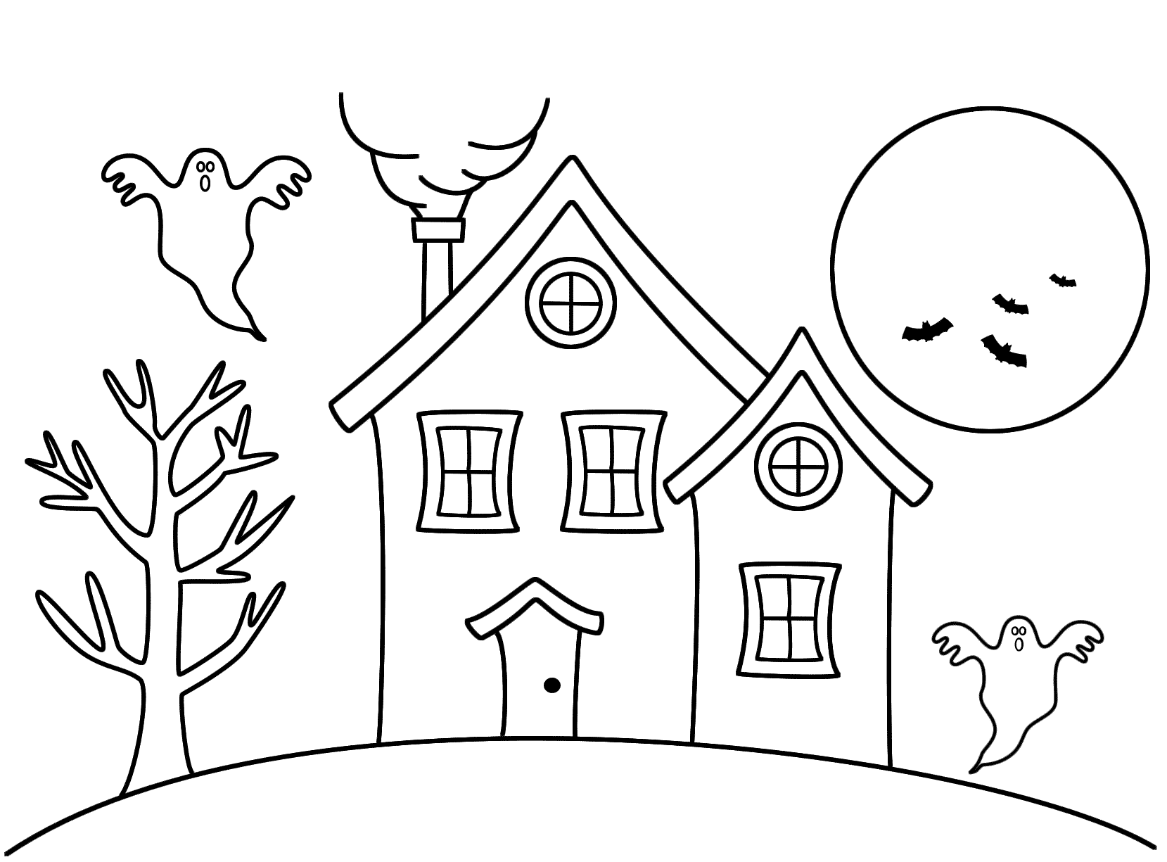 Haunted clipart easy cartoon. House drawing at getdrawings