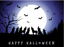 Haunted clipart halloween full moon. Free clip art pictures