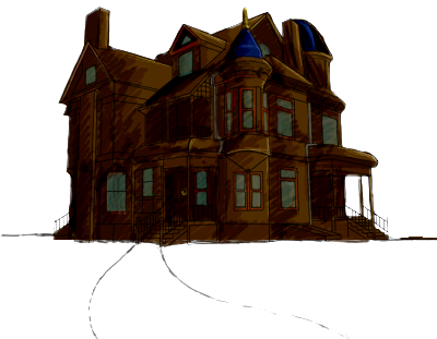 Haunted house png. Image event dragon cave