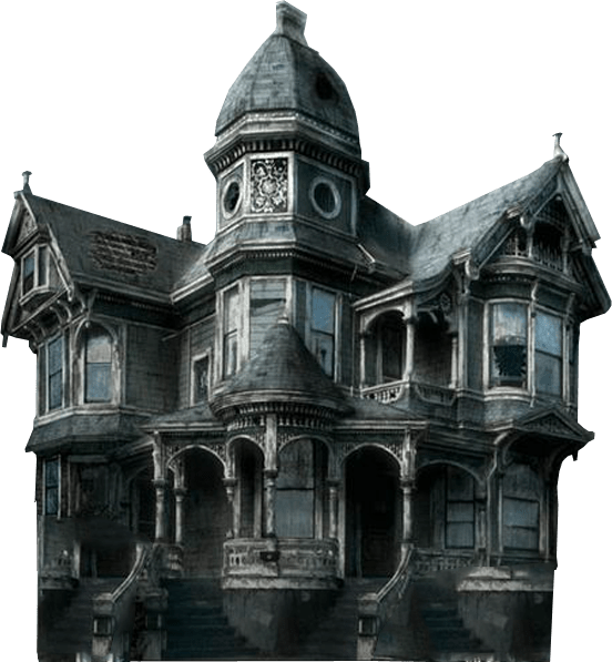 Haunted house png. Transparent background