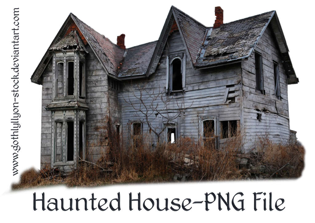 Haunted house png. By gothlyllyon stock sotck