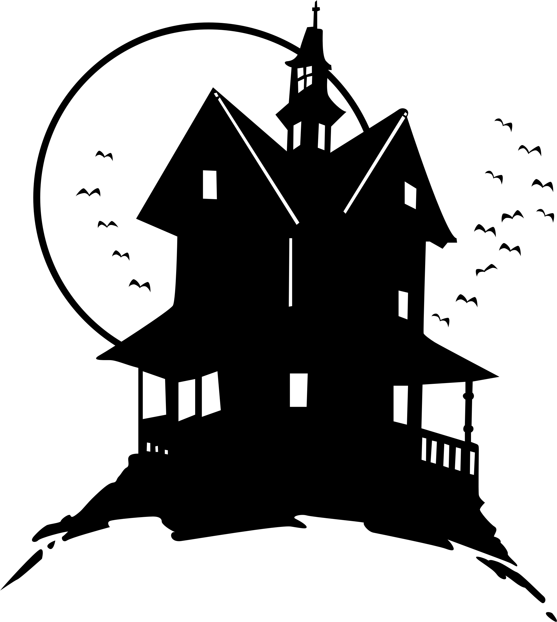 Haunted house png. On the hill icons