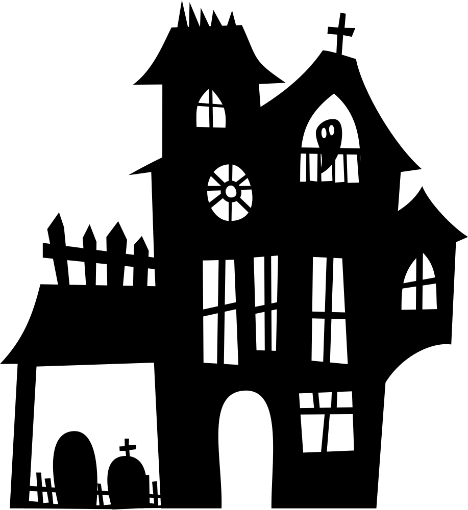 Haunted mansion png. Onlinelabels clip art silhouette