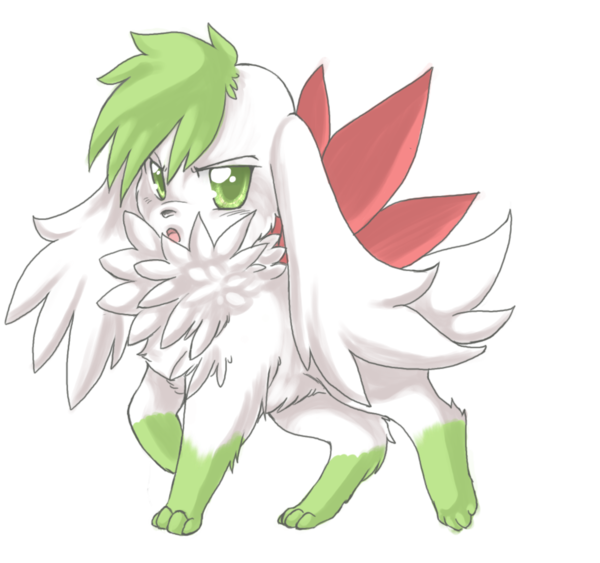 Haunter drawing shaymin. Sky form by sprinkling