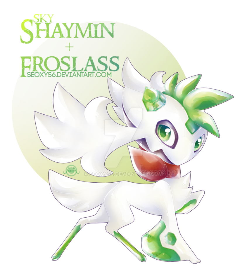 Haunter drawing shaymin. Froslass x by seoxys