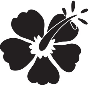 Hawaii clipart black and white.