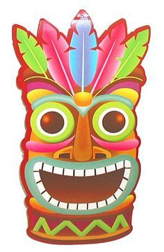 Tiki clipart. Hawaiian luau party pinterest