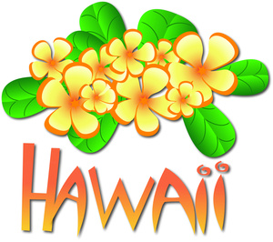 Hawaii image tropical flowers. Hawaiian clipart vector stock