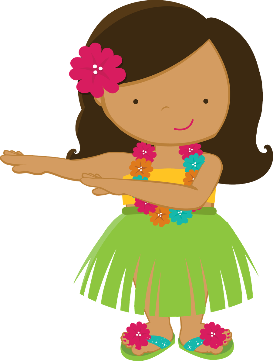 Aloha minus girl drawings. Hawaiian clipart clip royalty free download