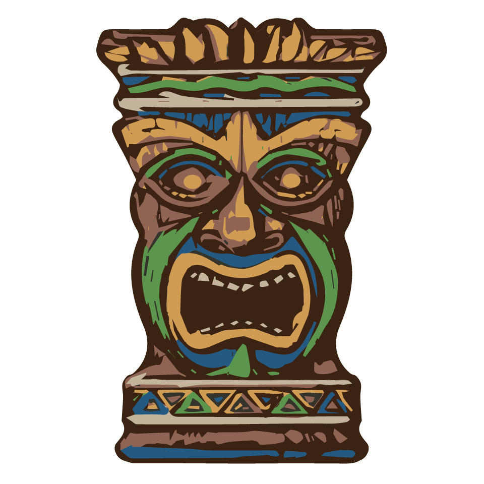 Hawaii clipart tiki. Picture group wall graphics
