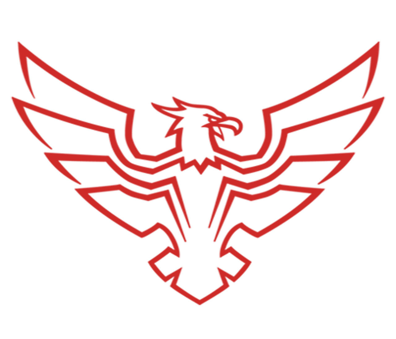 Hawk logo png. Red by irufort on