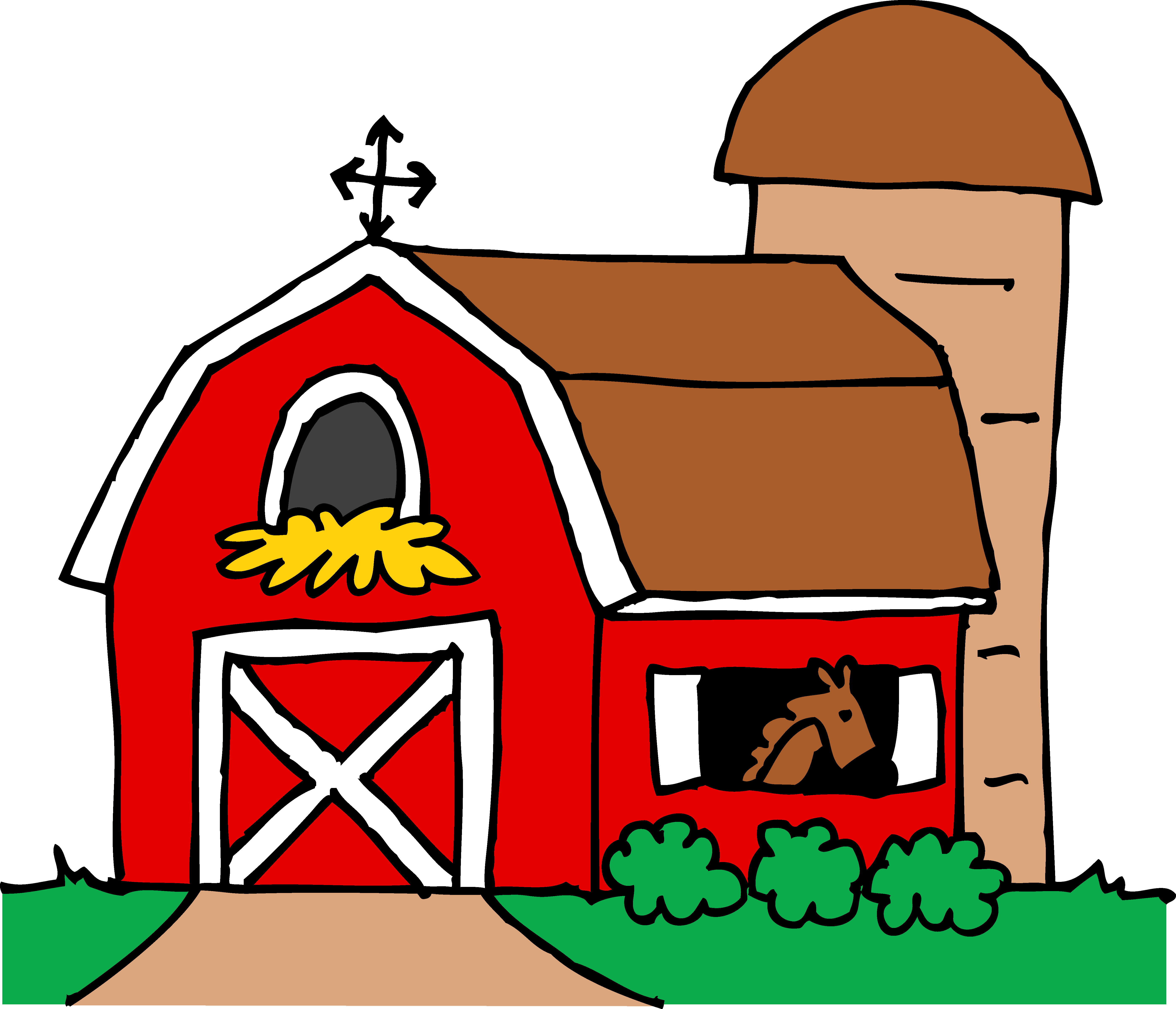 Hay clipart cute. Little red barn free