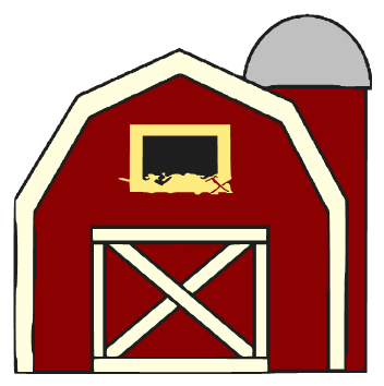 Barn clipart little red. Hay clip art library