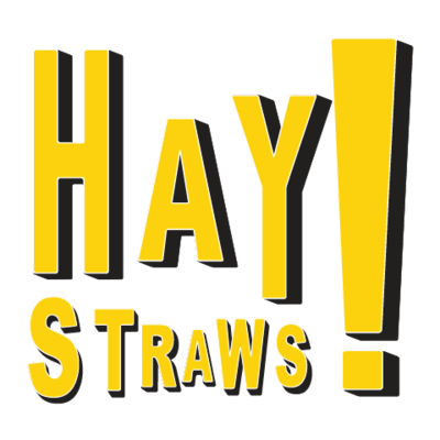 Straws natural drinking. Hay clipart rice straw banner stock