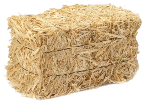 straw transparent hay bale