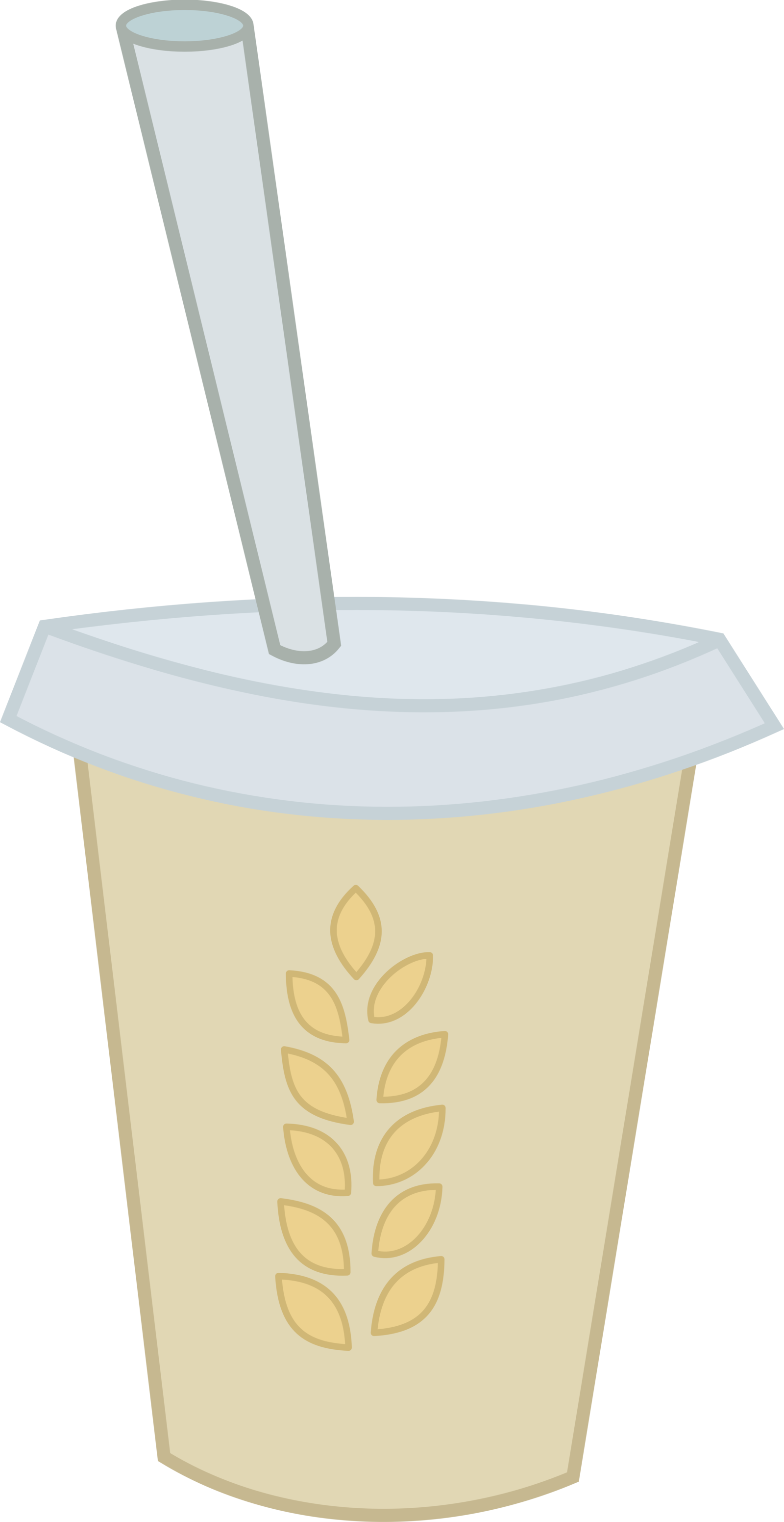 Hay vector. Smoothie extra by hourglass