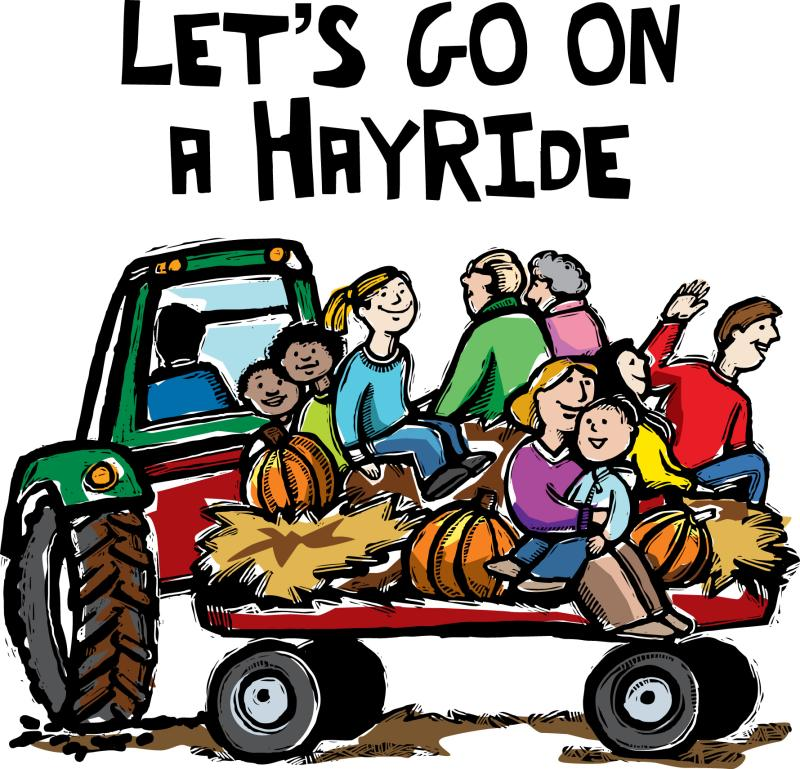 Hayride clipart hay cart. Hubpicture wagon free