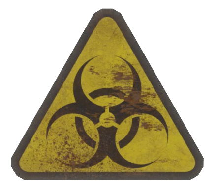 Hazard sign png. Image fo fallout wiki