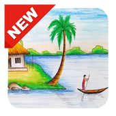 Hd drawing scenery. For android apk