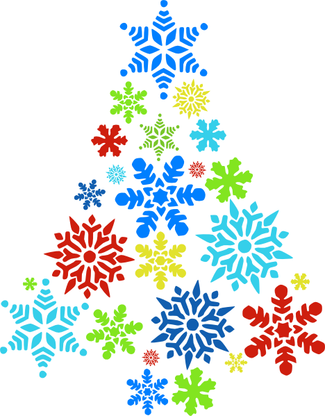 happy holidays clipart snowflake