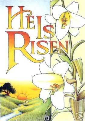 He is risen clipart morning. Lily of the valley