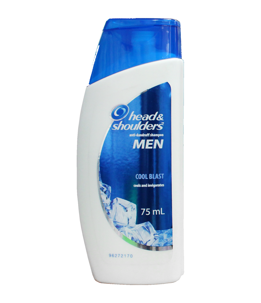 Head and shoulders png. Shampoo men cool blast
