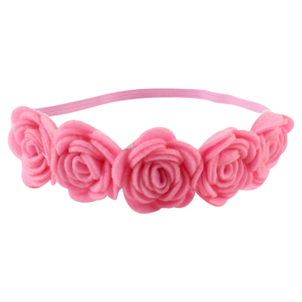 Flower headpiece png. Rose pink headband mini