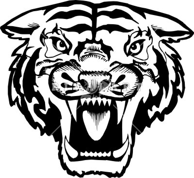 Head clipart white tiger. Black and letters free