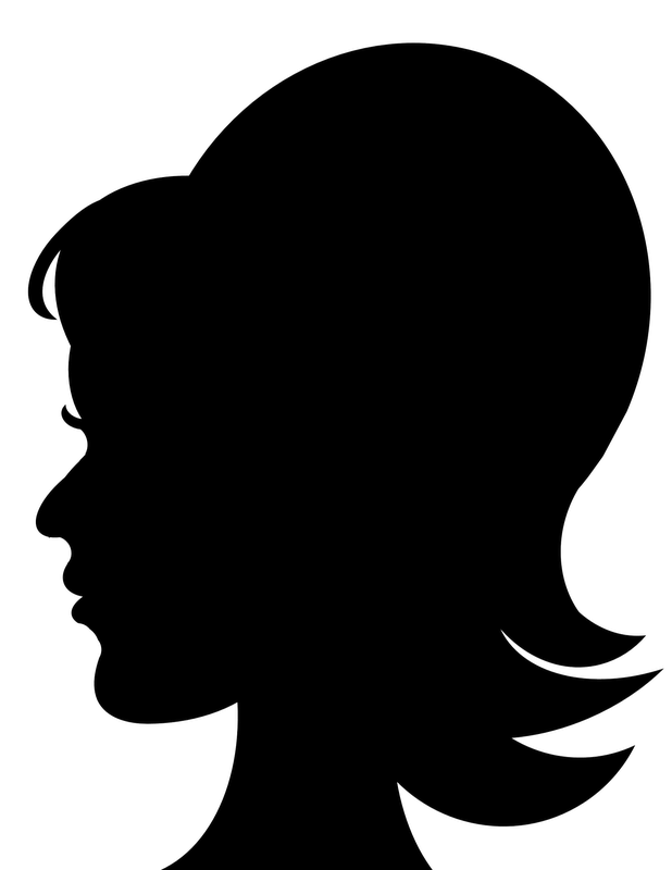Head silhouette png. Woman transparent cliparts