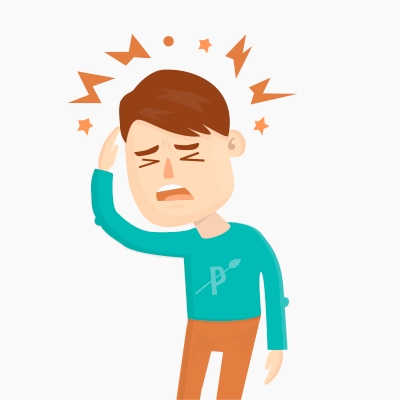 Headache clipart head ache. Paleo and migraines leap