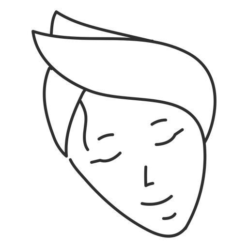 Headband drawing white. Face sketch stroke transparent
