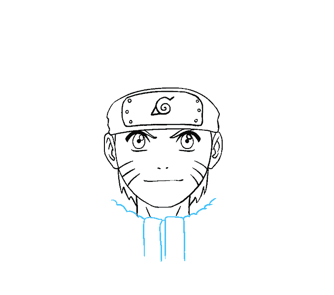Vision drawing head. How to draw naruto