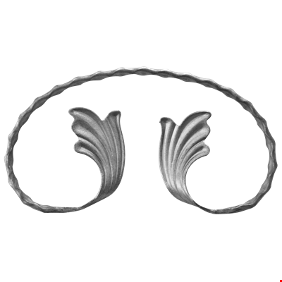 Sahinler forge ornamental wrought. Headband drawing leaf clipart black and white library